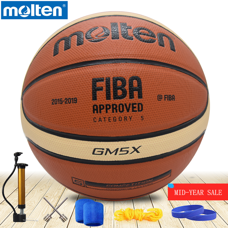 original molten basketball ball GM5X BGM5X NEW High Quality Genuine Molten PU Material Official Size 5