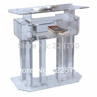 Free Shipping Beautiful Easy Cheap Clear Detachable Acrylic Podium Pulpit Lectern