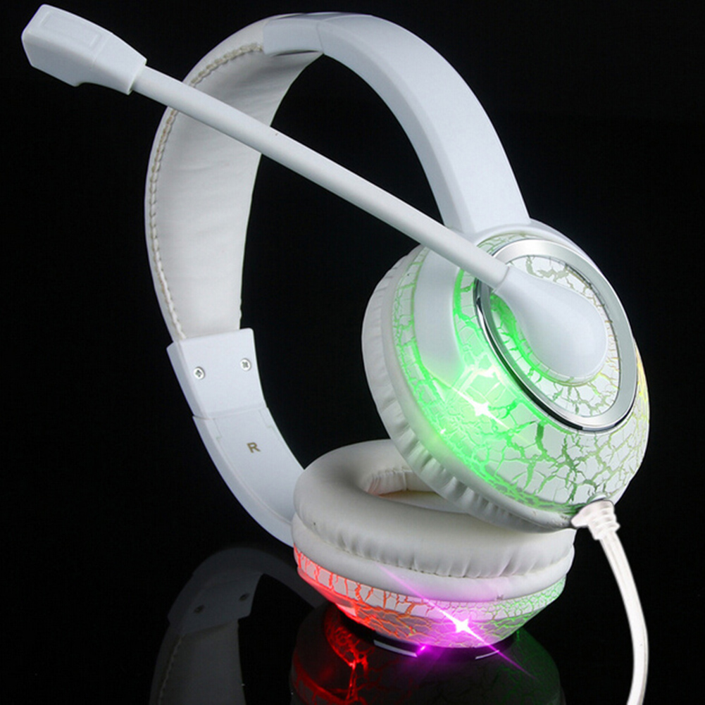 USB Gaming Headset LED Luminous Headphones Earphone with Microphon2* Audio 3.5mm and 1 USB interface for PC computer Gamer smsl sap 1 mini portable desktop headphones amplifier 110v 220v pc mp3 6 5mm output interface with 6 5mm to 3 5mm interface