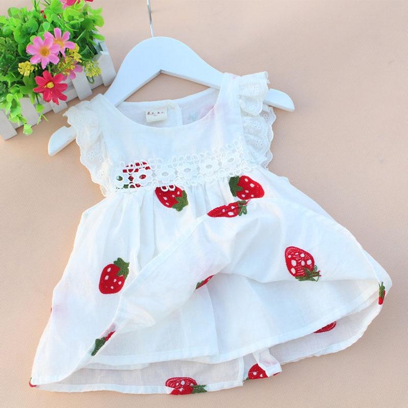 2016 high quality newborn baby girl dresses summer