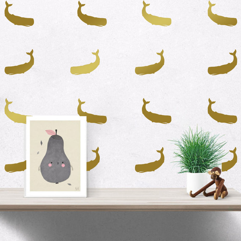 From the window to the wall whale - Hot Sale Creative Diy Whale Wall Stickers Home Decor Living Room Mirror Window Wall Stickers For