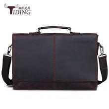Винтажные Кожаные мужские сумки 2018 кожаная деловая сумка мессенджер