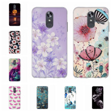 For LG Q Stylo 4 Case Ultra-slim Soft TPU Silicone Q710MS Cover 3D Floral Patterned Funda Capa