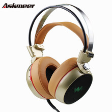 Fashion Over Ear Computer Gaming Headphones with Microphone Colorful Breathing LED Light Deep Bass Stereo PC Gamer Game Headset