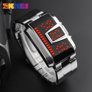 Image 5 - SKMEI אופנה Creative LED ספורט שעונים גברים למעלה יוקרה מותג 5ATM עמיד למים שעון דיגיטלי שעוני יד Relogio Masculino