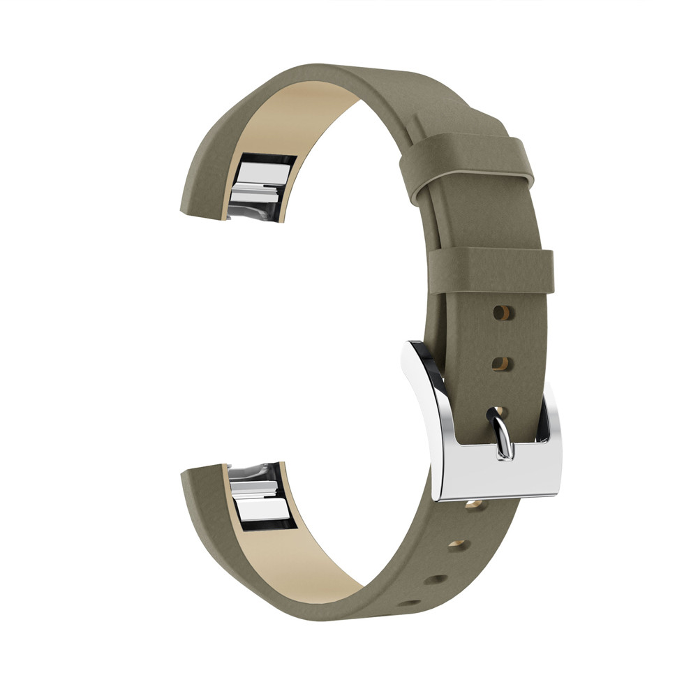 Fitbit Alta//Alta HR Soft Genuine Leather Replacement Band with Metal Connectors