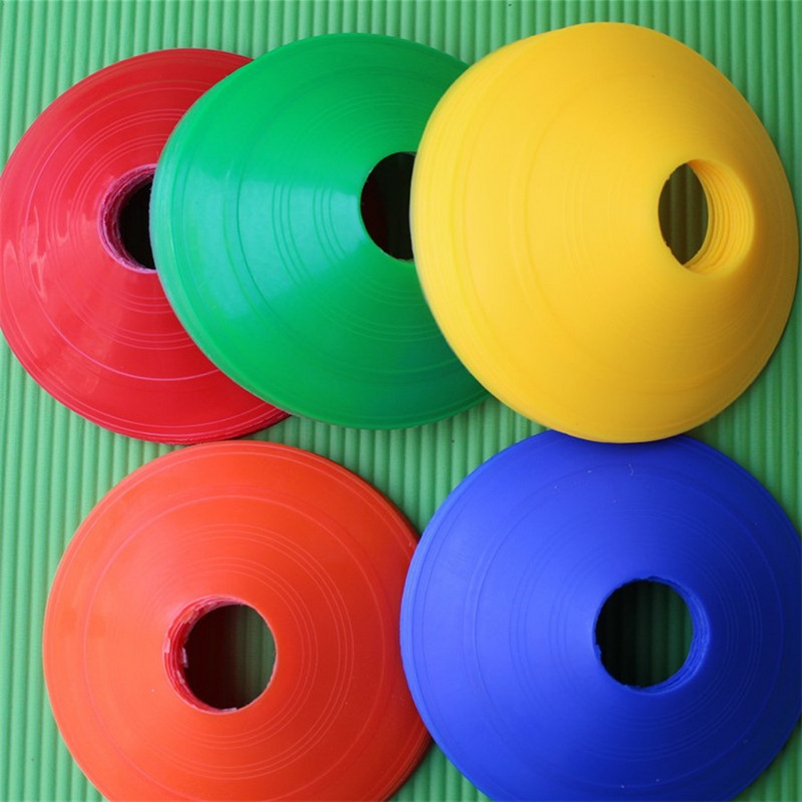 by dhl or fedex 500pcs 19cm Cones Marker Discs Soccer Football Training Sports Entertainment Accessories