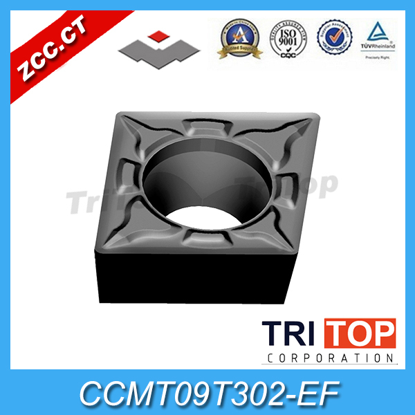 Zhuzhou Tungsten Carbide Manufacturers CCMT09T302-EF YBG205   (10pcs/box) ZCC . CT Cemented Carbide Turning Insert