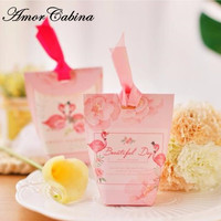 Creative Pink Flamingo Wedding Party Like Candy Box Bomboniere Sweet Gift Box Party Chocolate Box Wedding Supplies