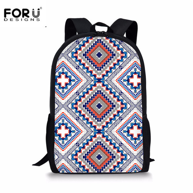 ed99c1bc4659 FORUDESIGNS India Mandala Style Women Backpack High Quality Canvas Mochila  Escolar School Bags for Teenagers Girls Leisure Bags