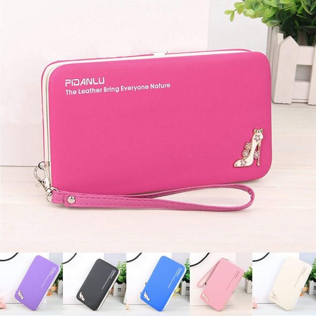 1pc Women Lady Leather Wallet Purse Long Handbag Clutch Box Bag Phone Card Holder Pu