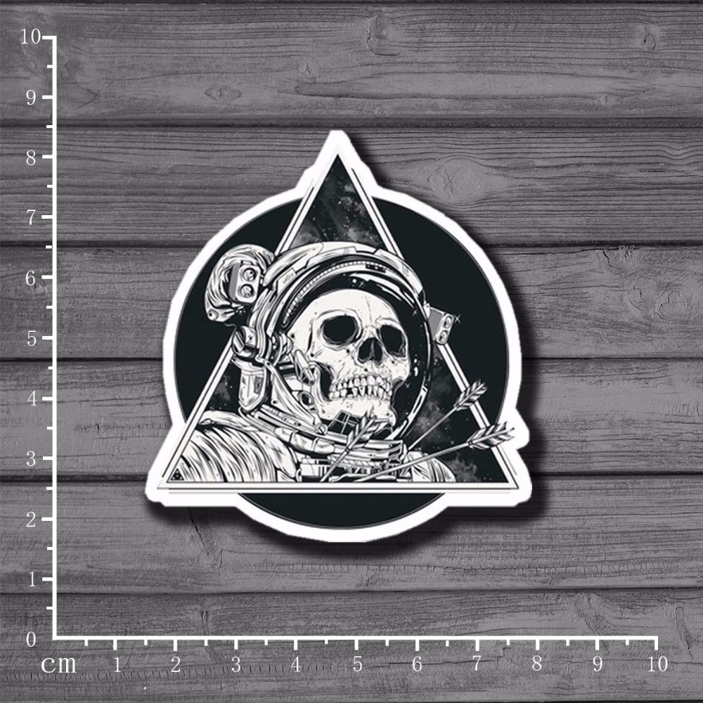 Space Skull Waterproof Suitcase Luggage Tide Brand Stickers On Laptop Notebook Kids Toy For Car Skateboard Home Decor[Single]