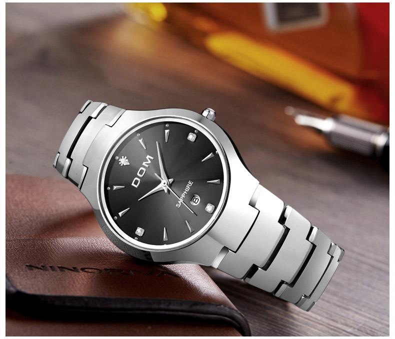 Hk dom luksusowe top marka męska zegarek wolframu stal wrist watch wodoodporna biznesu kwarcowy zegarek fashion casual sport watch 11