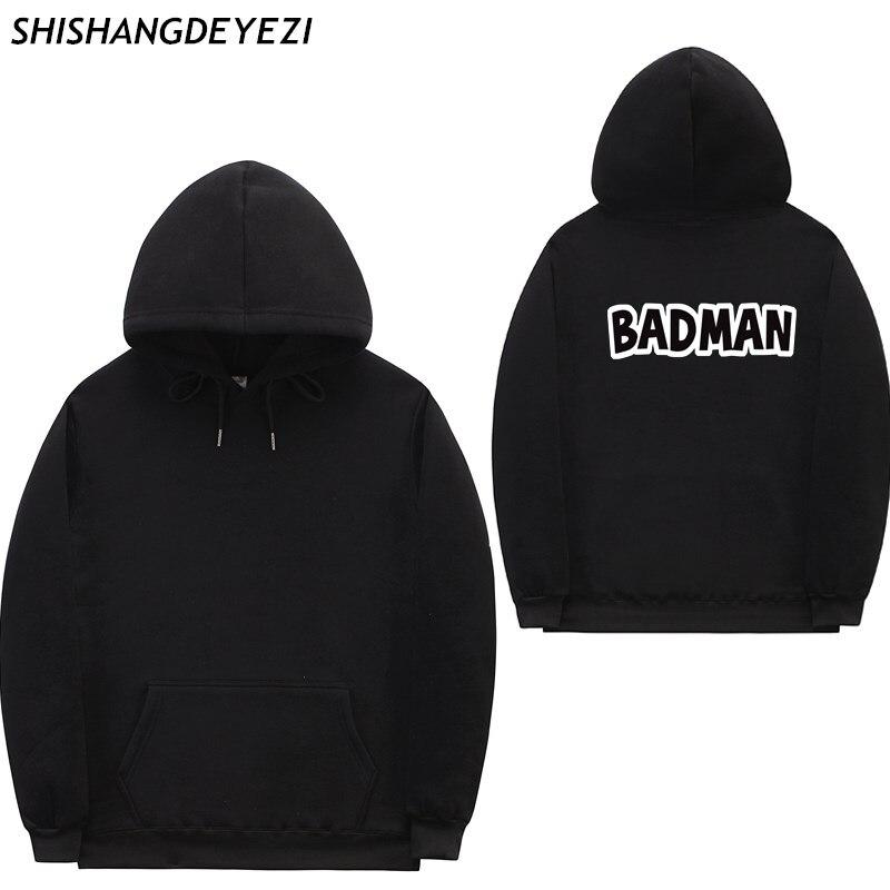 2018 New BADMAN Hoodies poleron hombre hip hop Streetwear sweatshirt men women pullover cotton Casual men's hoodies