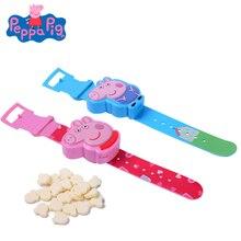 Original Peppa Pig New Milk Candy Watch Toy Cartoon Pattern Action Figure Model Snack Girl Children Birthday Gift