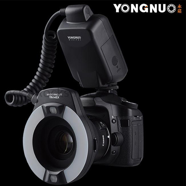 Yongnuo YN-14EX TTL Macro Ring Flash Light with Adapter work for Canon 7D 6D 5DIII 70D 700D купить