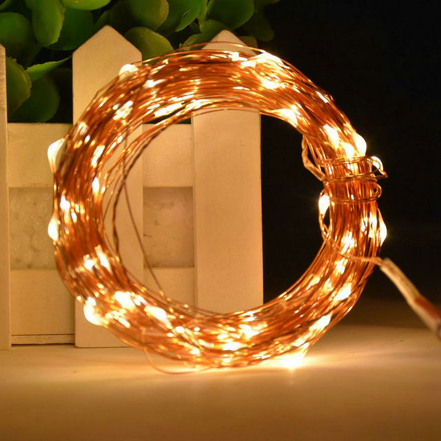 10M 100 led Christmas Holiday Wedding Party Decoration Festi LED Copper Wire String Fairy Lights Lamps AA Battery Operated 33FT