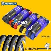 חלקי אופניים Michelin Lithion-2 אימון רכיבה על כביש אופני רכיבה על אופניים 700 * 23c מתקפל צמיגים מתקפל Ultralight 60 צמיגי TPI
