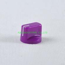 10pcs Colorful Purple Rotary Volume Control Plastic Potentiometer Knob Knurled Shaft Hole цена