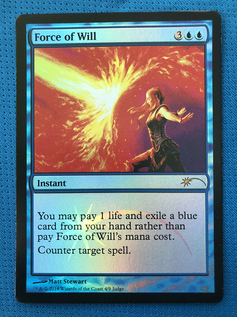 Force Of Will Judge Gift Program Foil Magician ProxyKing 8.0 VIP The Proxy Cards To Gathering Every Single Mg Card.