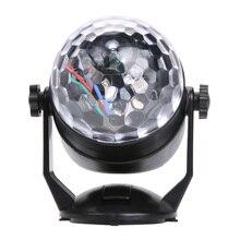 6 W Mini Bola de Cristal Ventosa Lámpara Llevada de la Etapa 110 v-220 v Luces Del Partido Luz Laser Del Disco Navidad Proyector Láser de Control de sonido