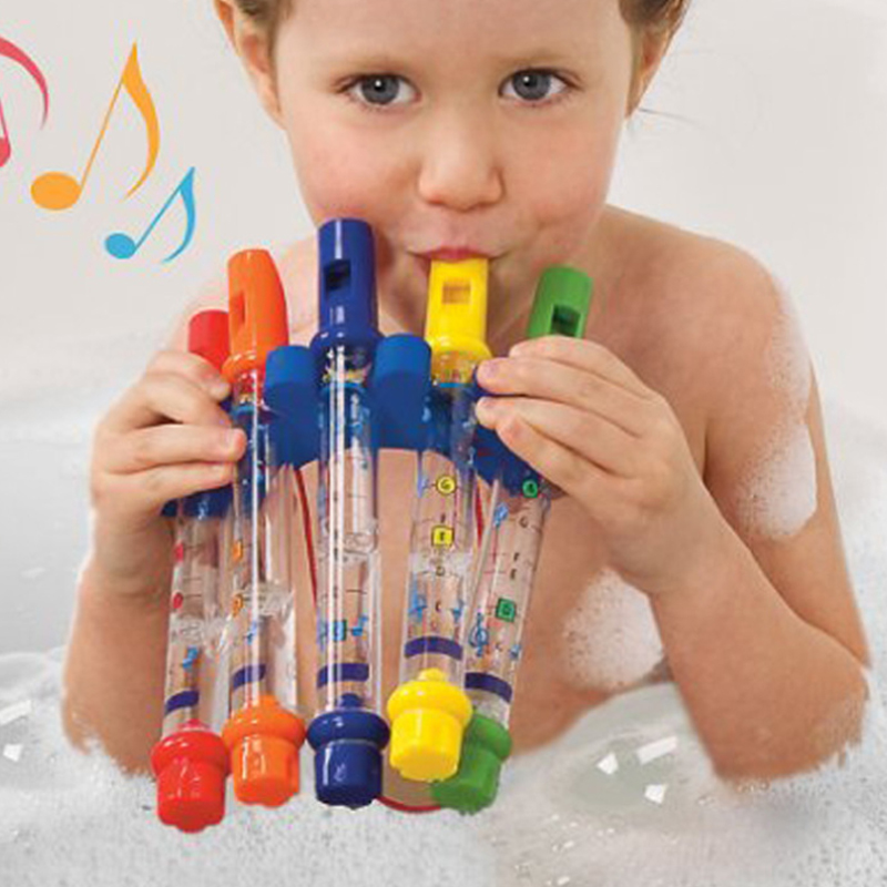 5Pcs/set Kids Children Water Flutes Bath Toy Plastic Fun Music Sound Education Toys Boy Girls Tub Tunes Toy цена 2017