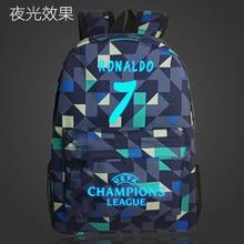 7# Bag Ronaldo Backpacks Fashion School Backpack For Teenagers Boy Girls Barcelona Travel School Style Nylon Backpacks Kids Gift
