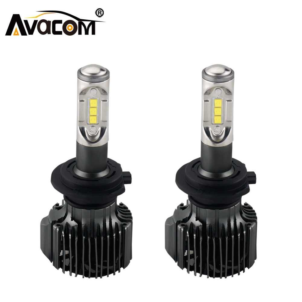 Avacom H4 LED Bulb 12V 12000lm Car Headlight Auto Bulb H1 H11 H8 LED Lamp H13 HB3 HB4 9004 9005 9006 72W 6500K 24V H7 Car Light