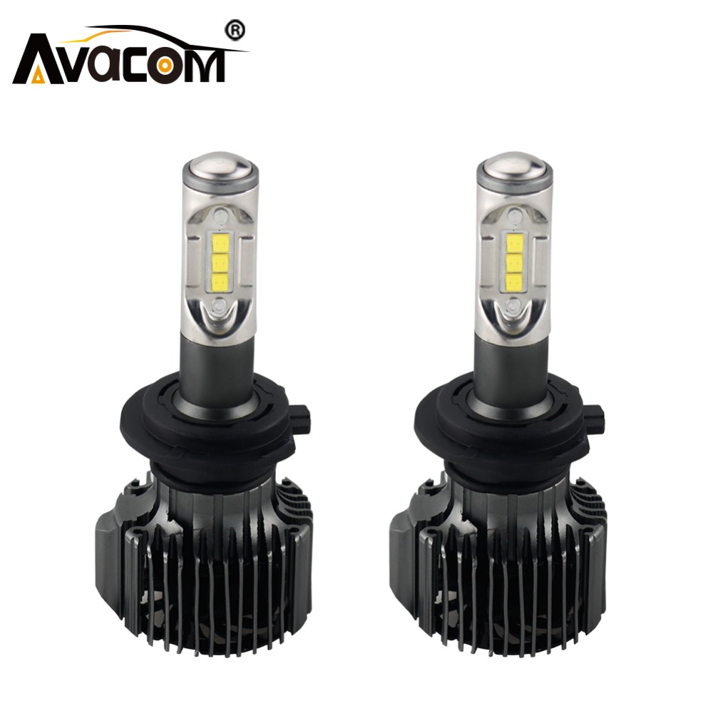 Avacom H4 LED Bulb 12V 12000lm Car Headlight Auto Bulb H1 H11 H8 LED Lamp H13 HB3 HB4 9004 9005 9006 72W 6500K 24V H7 Car Light 1pair 2 pcs 24w bulb 3000lm auto cree led h11 9005 h8 9006 car headlights lamp 6000 6500k lamp waterproof dc12 24v