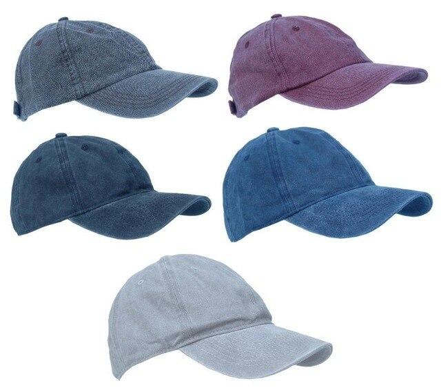 2017 Men Women Solid Washed Stonewashed Jean Plain Denim Cap Dad Baseball  Ball Hat Cap Curved Bill Adjustable Vintage hat 432741df791