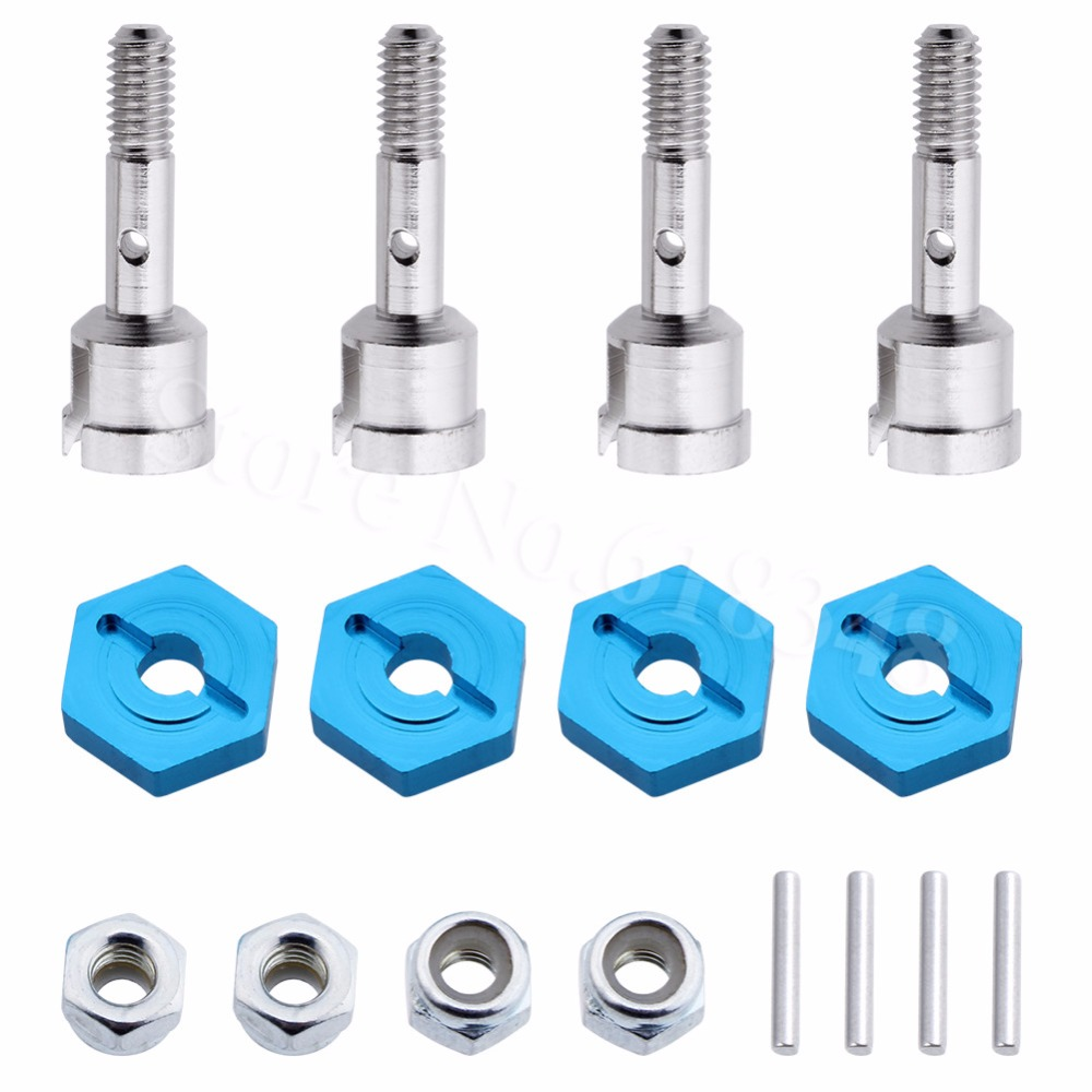Wheel Conversion Set Axle & 12mm Hex Dive Hub Turn 1/10 On Road for WLtoys 1/18 A959 A969 A979 A959B A969-B RC Car Upgrade Parts(China)