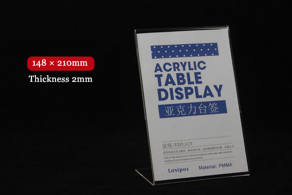 148x210mm acrylic billboard tag ticket card display stand for How to use table tag in html