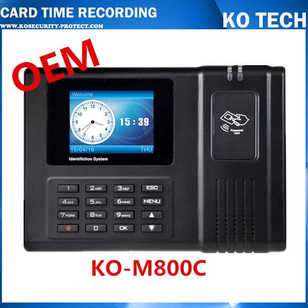 Horloge de présence de carte 125 KHZ + lecteur de carte d'identité + TCPIP avec logiciel belle qualité bon prix MACHINE de présence de bureau en STOCK