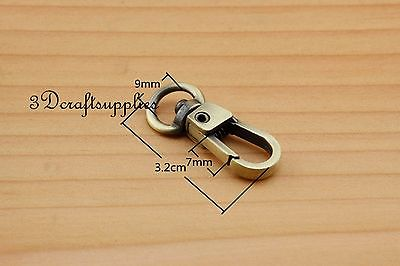 Lobster Clasps Clips Claw purse hooks Swivel snap hook anti brass 9mm 10pcs AT97 owner 52567 16 hooked snap swivel 9 шт