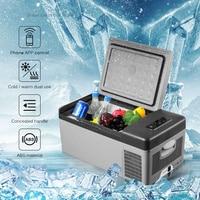 Alpicool портативное приложение Conrtol мини компрессор холодильники 15L портативный мини портативный автомобильный холодильник Холодный/теплый д...