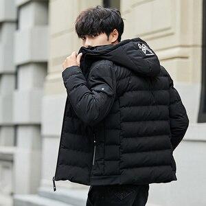 Image 3 - Veste et manteau dhiver à capuche pour homme, vêtements chauds et rembourré, à la mode, Parka pour hommes, 2018, 4XL, décontracté