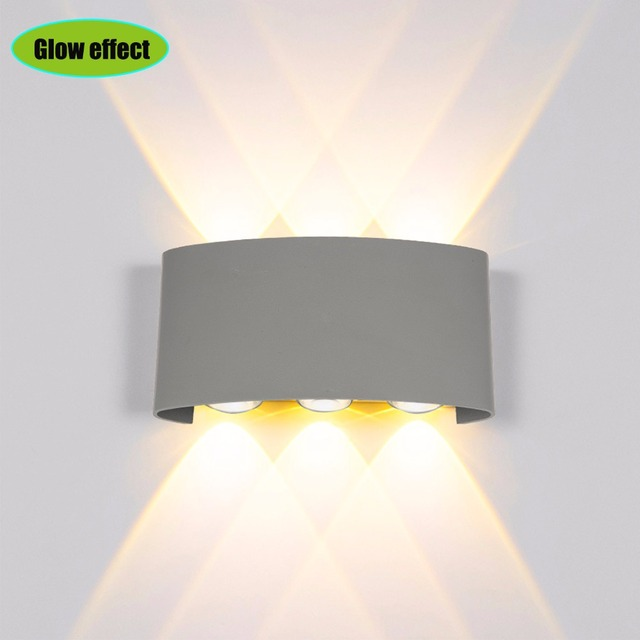 Huaxinv Led Wall Lights Outdoor Arc Source 12w Warm Light With Install On Ip65 Waterproof Lamps Arts