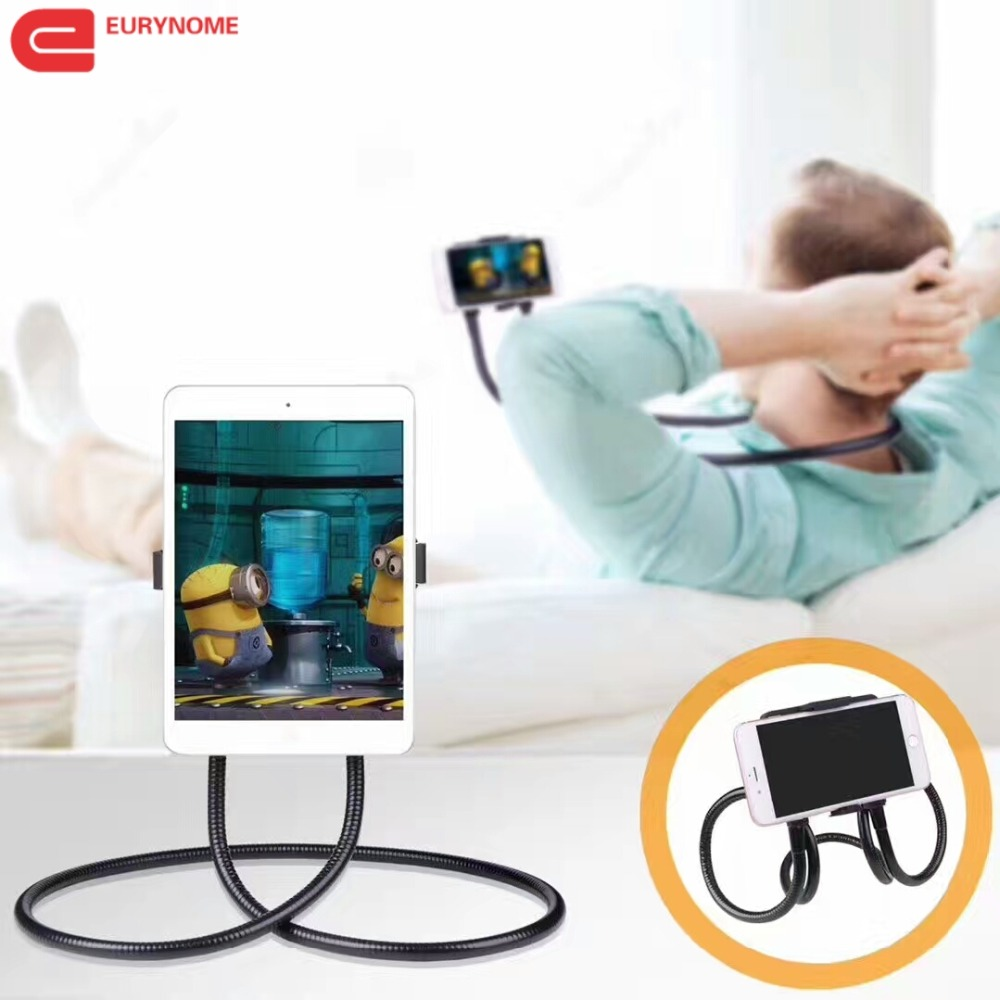 все цены на Lazy Bracket Universal tablet Holder For Ipad Hanging Neck Bracket phone Holder Stand Bed Mount For Samsung For huawei