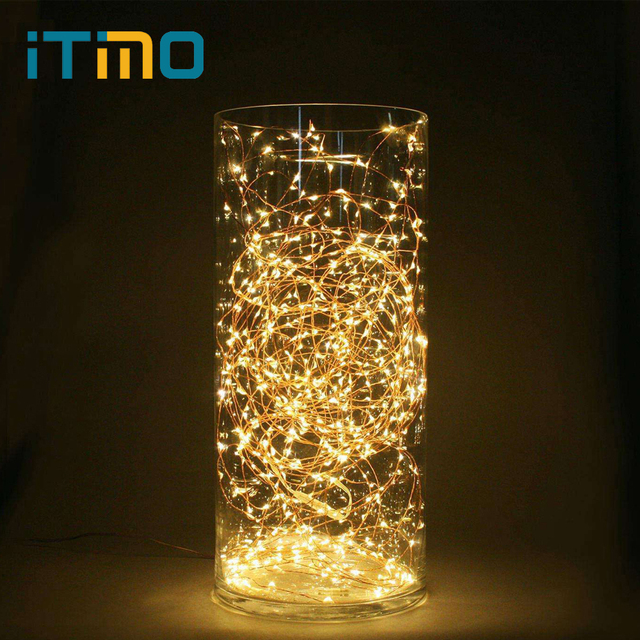 Itimo 5m Led String Lights Battery Operated Copper Wire Fairy Lamp Party Wedding Lighting Christmas