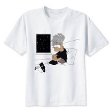 Newest Fashion Man Tshirt Xxxtentacion Summer Fashion T-shirt Casual White Funny Cartoon Print T-shirt Hip Pop Tops