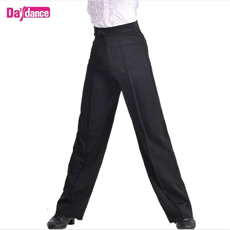 Boys Dance Pants Latin Modern Ballroom Performance Dance Pants Men Dance Wear Black Satin Trousers Dancer Pants modern dance skirt ballroom dance gauze split joint skirt modern dance practice performance s17003