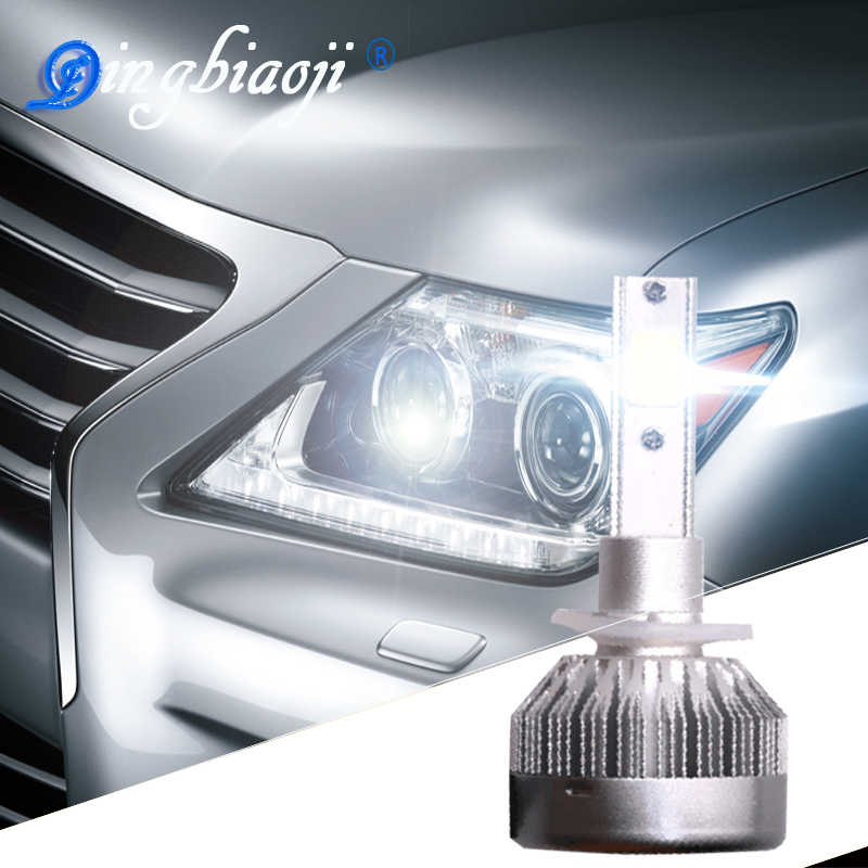 Super Luminoso C1 Del Dell H1 H7 H11 HB3/9005 HB4/9006 H8 H3 H4 H13 Universale Fit automobile Faro 12-24 V 6000 K Car LED luce