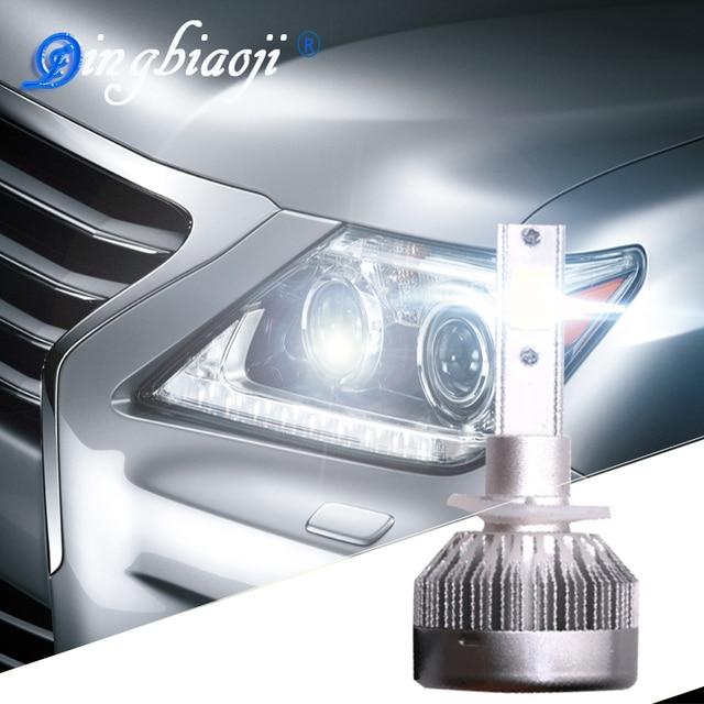 Super Luminoso C1 Del Dell H1 H7 H11 HB3/9005 HB4/9006 H8 H3 H4 H13 Universale Fit automobile Faro 12-24 V 6000 K Car LED luce
