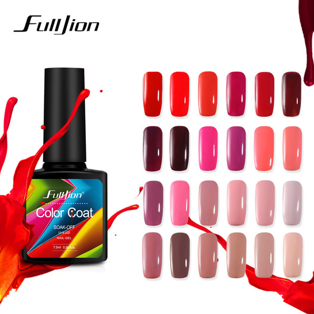 Fulljion Nail Gel Polish Soak Off UV LED Gel Nail Lacquer Long Lasting Beauty Salon Nail Art Gel Polish Hybrid Gel Varnishes
