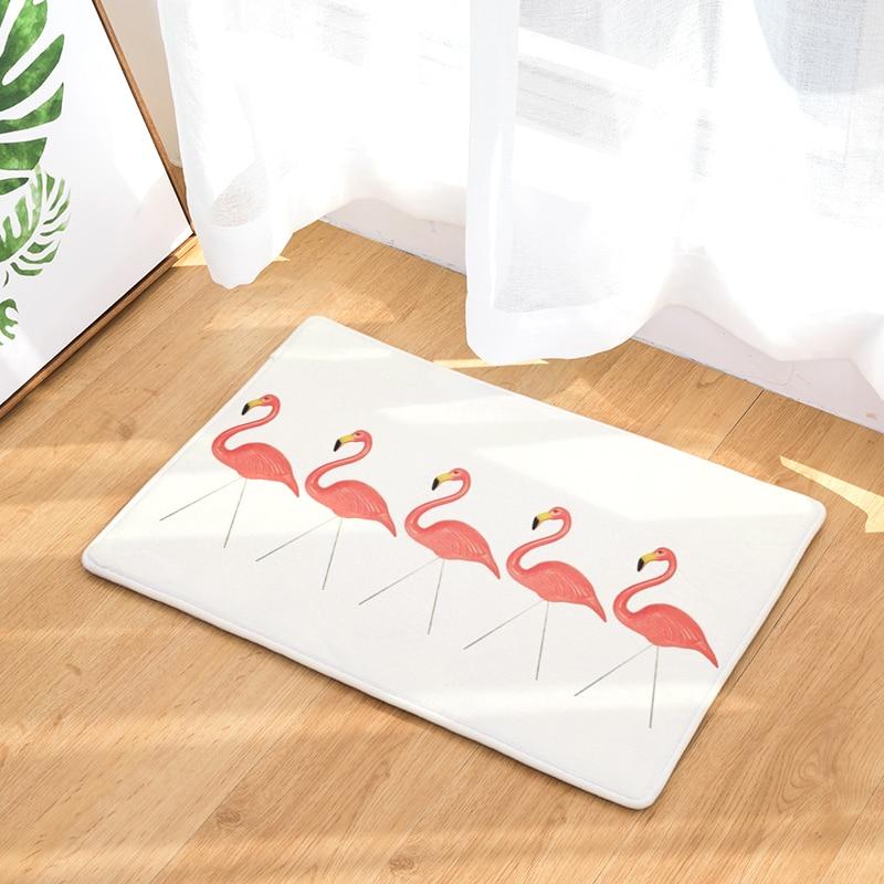 Anti- Slip Welcome Floor Mats Flamingo Hallway Kitchen Rug Decoration Stair Carpets Light Thin Crafts Rugs 40x60cm 50x80cm