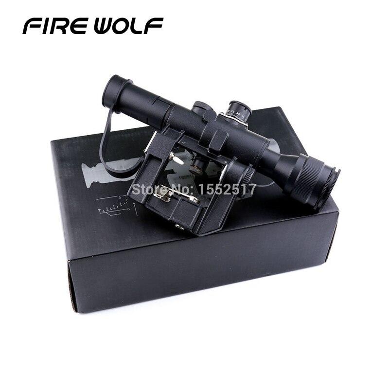 Tactique Svd Dragunov 4x26 Rouge Lumineux Portée Pour Fusil de Chasse de Portée de Tir Ak Portée Red Dot Chasse Optique chasse Laser