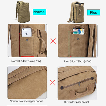Large Travel Climbing Bag Tactical Military Backpack Women Army Bags Canvas Bucket Bag Shoulder Sports Bag Male Outodor XA208WD 2