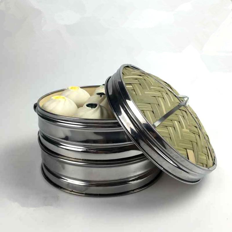utensilios de cocina de acero inoxidable vaporera de bamb con tapa chino cocina utensilios de cocina