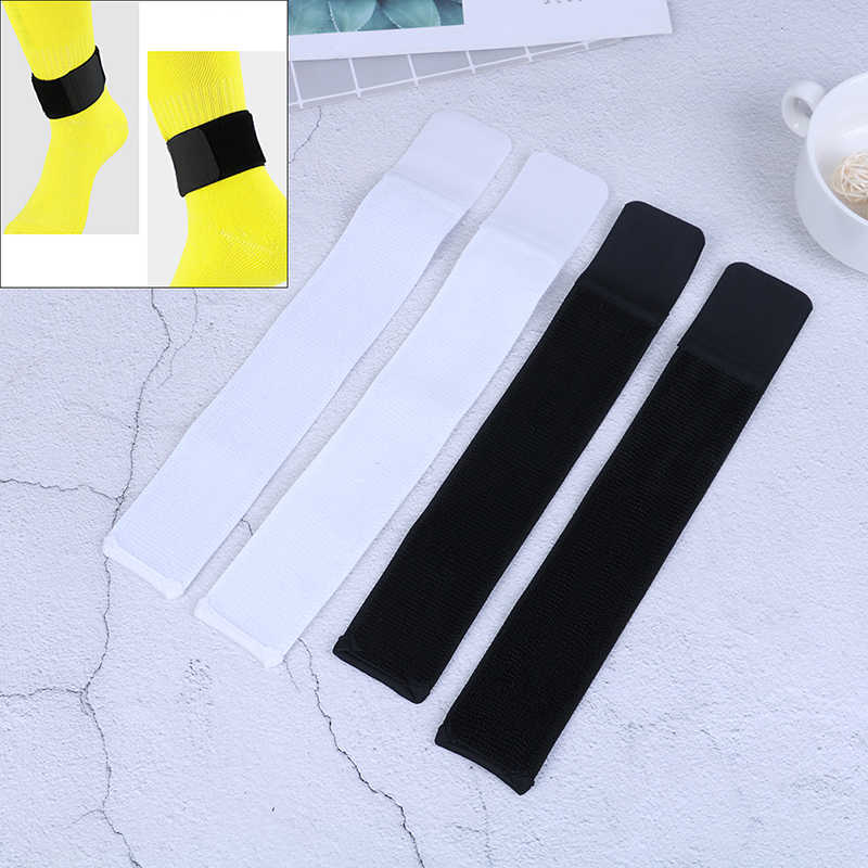 1 Pair Regolabile Elastico Fasciatura Sport Sport di Fissaggio BeltSoccer Shin Guard Rimanere Fisso Fasciatura del Nastro Shin Pastiglie