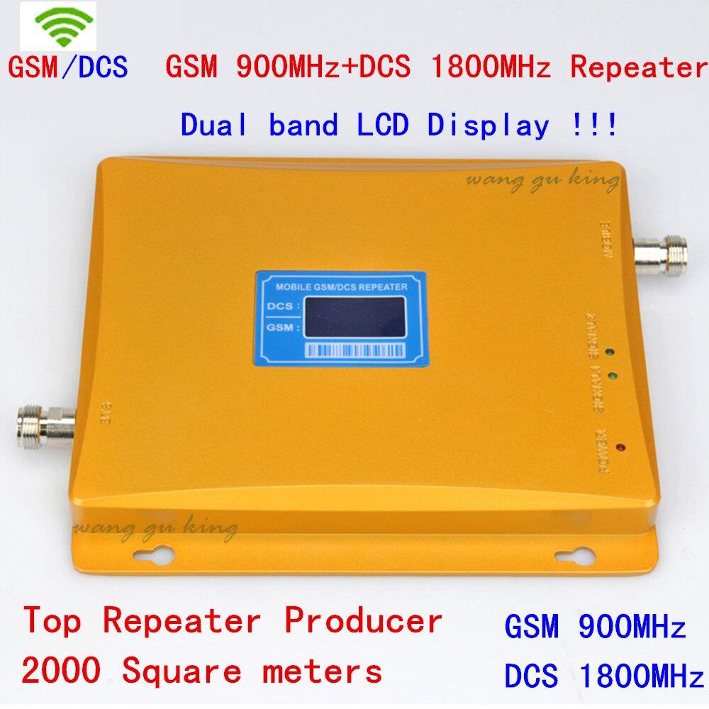 Répéteur GSM DCS double bande GSM 900 MHz + DCS 1800 MHz répéteur de Signal amplificateur Mobile amplificateur de signal de téléphone portable